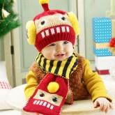ht-cap-74set หมวกไหมพรมเด็ก หุ่นยนต์ Robot +ผ้าพันคอ