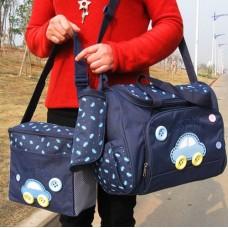 ms-bag-01 กระเป๋าคุณแม่ กระเป๋าสัมภาระลูกน้อย สีน้ำเงิน