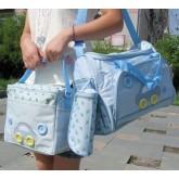 ms-bag-02 กระเป๋าคุณแม่ กระเป๋าสัมภาระลูกน้อย สีฟ้า