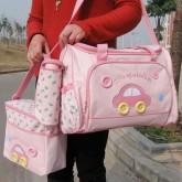 ms-bag-03 กระเป๋าคุณแม่ กระเป๋าสัมภาระลูกน้อย สีชมพู