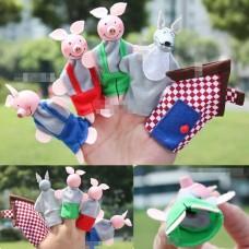 toy-06 ตุ๊กตาหุ่นนิ้วมือ ชุดลูกหมูสามตัว